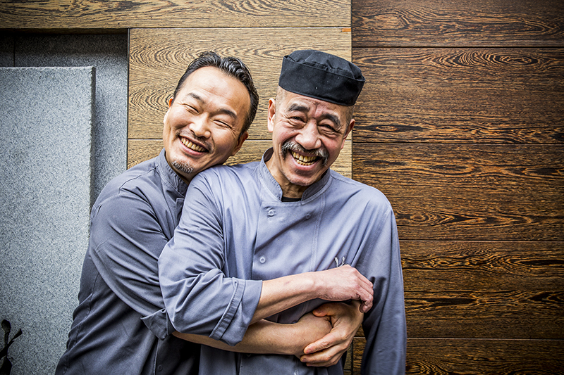 Portrait photograph of chefs at Umu restaurant